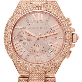 Michael Kors - Michael Kors 'Camille' Crystal Encrusted Chain Link Watch