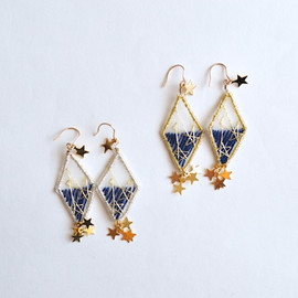prism triangle pierce & earring