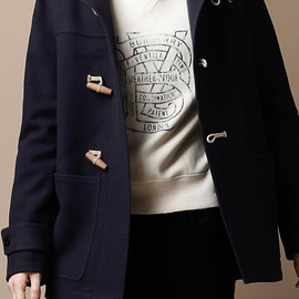 Burberry Brit - HOODED WOOL DUFFLE COAT