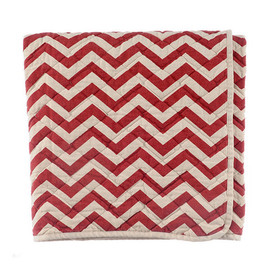 Archival Clothing × Utility Canvas - Canvas Throw - Red Zigzag