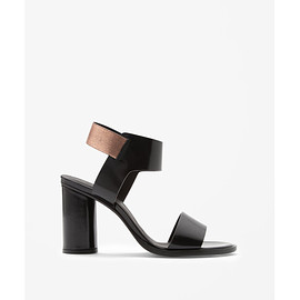 COS - Black Metallic Sandals