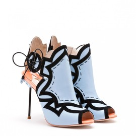 SOPHIA WEBSTER - YASMIN BLACK AND BLUE LEATHER BOOTIE