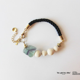 Rough'N'tumble - Twist×stone bracelet