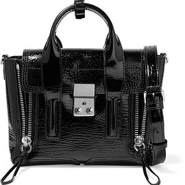 3.1 Phillip Lim - The Pashli mini textured patent-leather trapeze bag