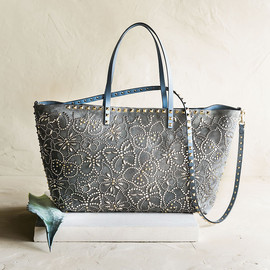 Valentino - Valentino Rockstud Suede Butterfly Tote Bag
