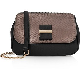 See by Chloé - Rosita python-effect and textured-leather shoulder bag