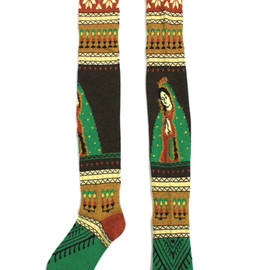 KAPITAL - Long Jesus Socks