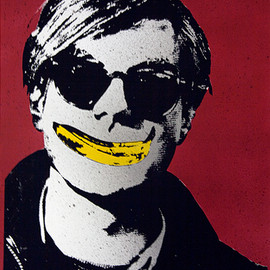 Rene Gagnon - Andy Warhol with a Banana Smile