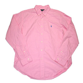 POLO RALPH LAUREN - Vintage Polo by Ralph Lauren Pink Classic Fit Button Down Shirt Mens Size Large