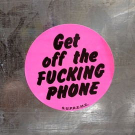 Supreme - STICKER Pink