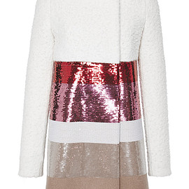 GIAMBATTISTA VALLI - FW2015 Sequined Colorblock Pea Coat