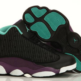 Jordan 13 Black/Grape-White 2013 Nike Kids Shoes