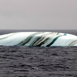 Multicolored striped iceberg!!