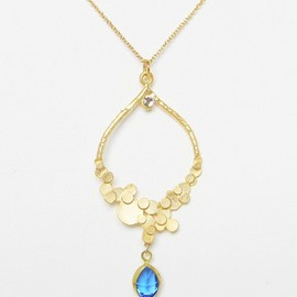 16k Gold Plated Cutting Glass Earrings&Necklace