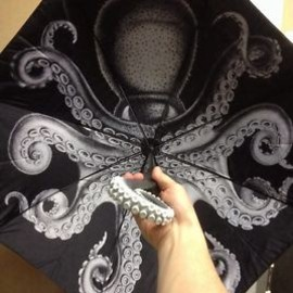 Kraken Rum Umbrella - Octopus Image On Inside
