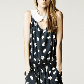 ZARA - cat print dress