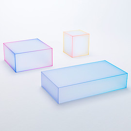 Nendo for Glas Italia - glass table collection