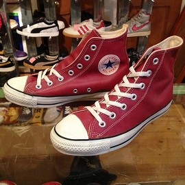 """converse - 「<used>90's converse ALLSTAR LEATHER HI red""""made in USA"""" size:US5/h(24.5cm) 8800yen」完売"""