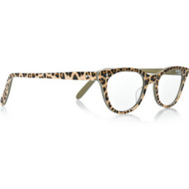 Cutler and Gross - Leopard-print acetate optical glasses