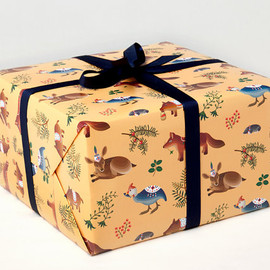 Clap Clap - Forest Animals Wrapping Paper - Yellow -