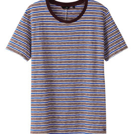 UU - UU Light cotton striped crew neck T shirt(S)+
