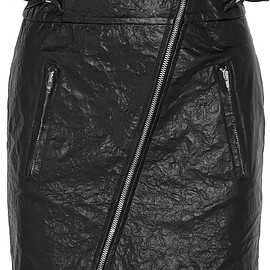 Isabel Marant - Breezy crinkled faux leather mini skirt