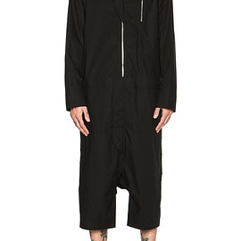 Rick Owens - SHORT COTTON JUMPSUIT