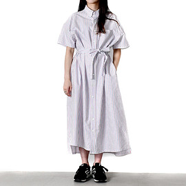 ENGINEERED GARMENTS - BD Shirt Dress-Oxford St.-White/Blue/red