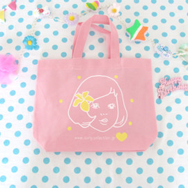 Curly Collection - Shopping bag M♥アロハガール×pink