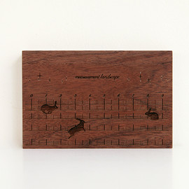 CEMENT PRODUCE DESIGN, Card Chest - measurement landscape / walnut
