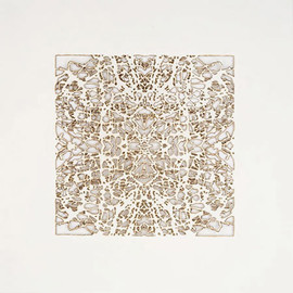 Donna Ruff - Square one, burn on paper