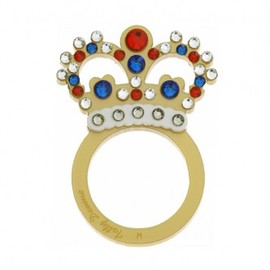 Tatty Devine - Crystal Crown Ring - gold