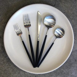 Goa Five-Piece Brushed Steel Cutlery Set; $66 at Task in Williamsburg, Brooklyn.