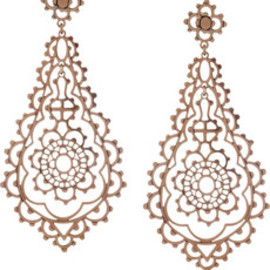 Laurent Gandini  - 9-karat rose gold drop earings