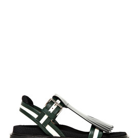 MARNI - 40MM FRINGED CALFSKIN SANDALS
