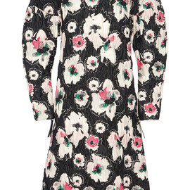 MARNI - FW2014 Black Ink Flower Matelasse Dress