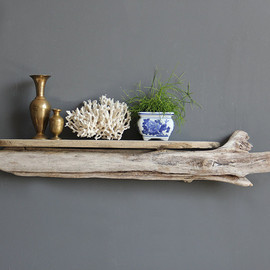 OceanSwept - Gorgeous Large Sculptural Slab Driftwood Shelf