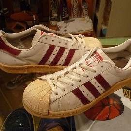 """adidas - 「<used>80's adidas SUPERSTAR white/red""""made in FRANCE"""" size:GB7(25.5cm) 11800yen」販売中"""