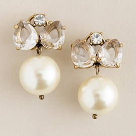 J.CREW - Pearl jewel box earrings