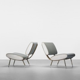 GIO PONTI - pair of lounge chairs from Villa Arreaza, Caracas
