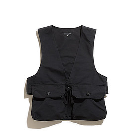 ENGINEERED GARMENTS - Fowl Vest-Cotton Double Cloth-Black
