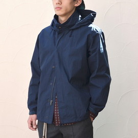 BROWN by 2-tacs - Stand Collar Coach Jacket -Navy