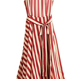 Vertical Stripe Chiffon Dress- summer must have!