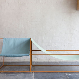 Muller Van Severen - a furniture project  seat bleu/green