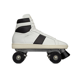 Saint Laurent - Roller Skates Court Classic in Optic White & Black Leather
