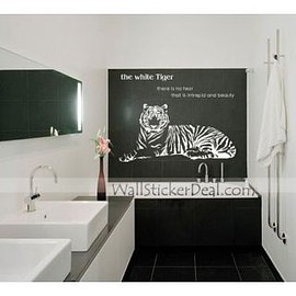 wallstickerdeal - The White Tiger Animals Wall Stickers