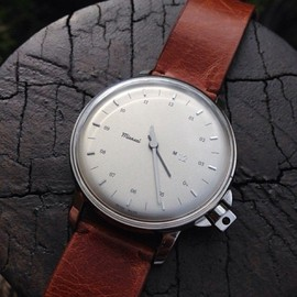 miansai - m12 swiss stainless silver on leather