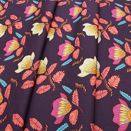 Art Gallery Fabrics - Autumn Vibes Pressed Ablossom Royal