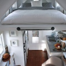 At a mere 127 sq. ft, this mobile cabin
