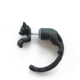 simmon - Cat Through Earring (black)